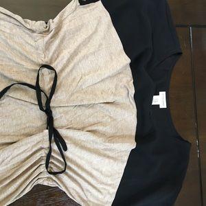 Dress/long shirt Motherhood maternity brown/sheer